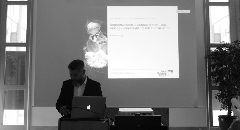 Symposium: Von der Hand zum Ellenbogen - Bandinstabilitäten, Handchirurgie Seefeld, Sebastian Kluge, Ultraschalldiagnostik Hand