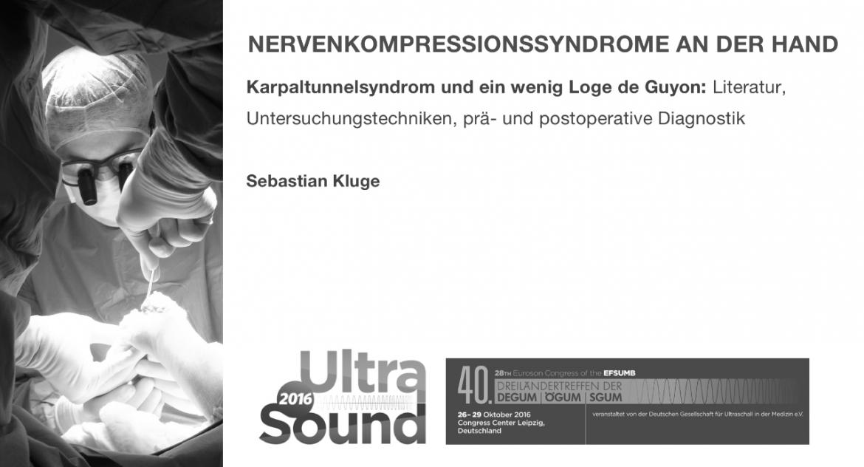 Dreiländertreffen, Ultraschall 2016, Sebastian Kluge, Handchirurgie Seefeld, Ultraschalldiagnostik Hand